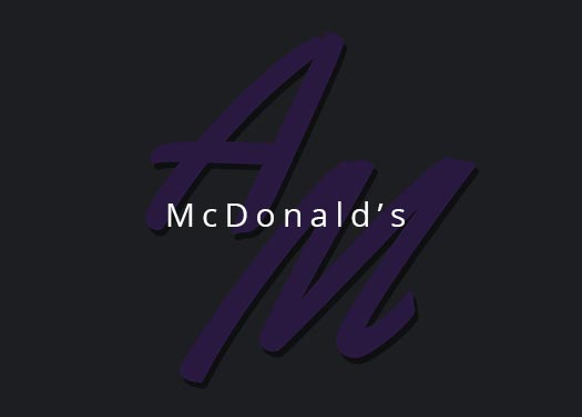 McDonalds reklama herce Tony Maska